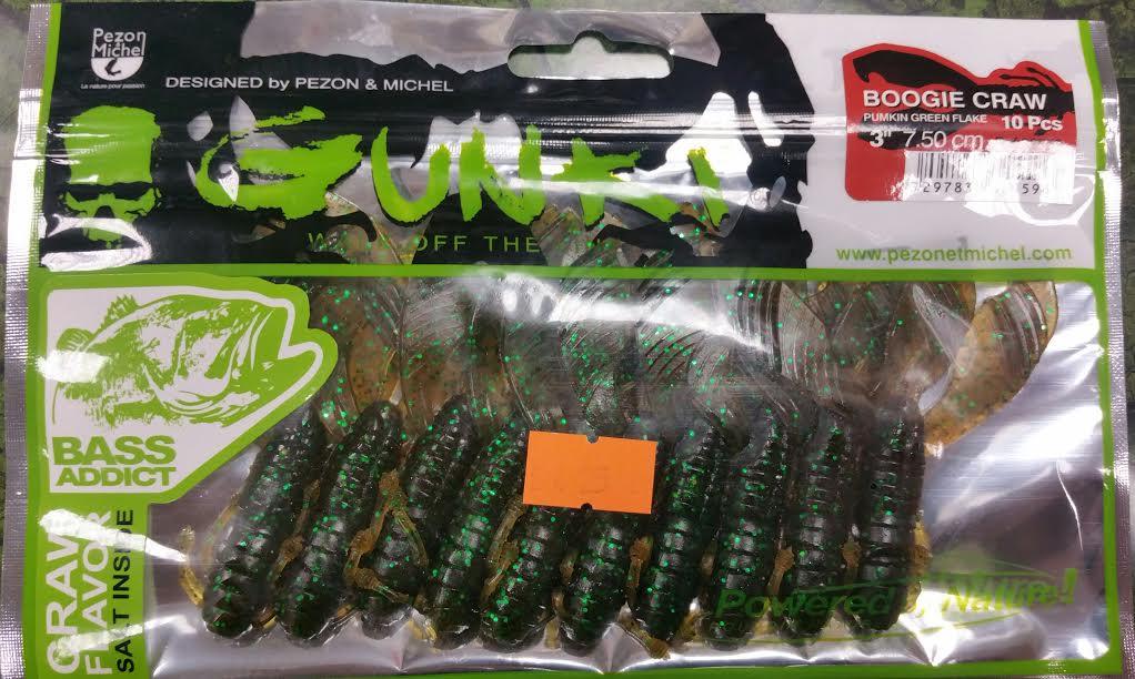 Gunki Boogie Craw 75 Pumpkin Green Flake Flusskrebs